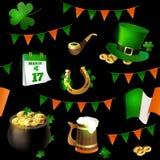 Безшовная картина иллюстраций для праздновать день ` s St. Patrick Стоковые Фотографии RF