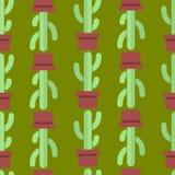 Безшовная картина кактуса Стоковая Фотография RF