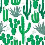 Безшовная картина кактуса иллюстрация штока