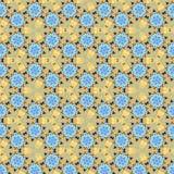 Безшовная картина калейдоскопа цветка Стоковое Фото