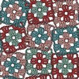 Безшовная картина квадратов бабушки вязания крючком Стоковые Фото