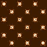Безшовная картина квадратов и спиралей Стоковое фото RF