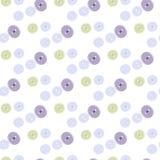 Безшовная картина кнопок покрашенных пастелью Стоковое фото RF