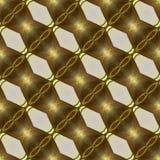 Безшовная картина конспекта золотой цепи Стоковые Фотографии RF
