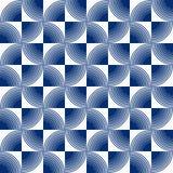 Безшовная картина концентрического круга излучать иллюстрация вектора