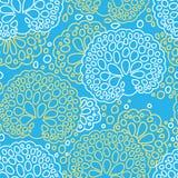 Безшовная картина коралла моря Стоковое Изображение RF