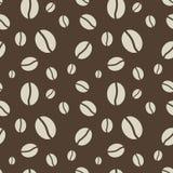 Безшовная картина кофейных зерен Стоковые Изображения RF
