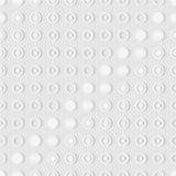 Безшовная картина колец и точек предпосылка мягкая кругло иллюстрация вектора
