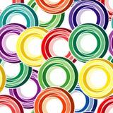 Безшовная картина кольца Стоковые Фото