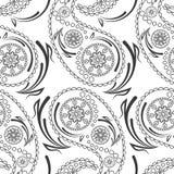 Безшовная картина красивых огурцов Пейсли Турецкий, индийский, персидский, мексиканский, африканский мотив иллюстрация штока