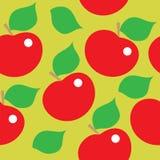 Безшовная картина красных яблок иллюстрация штока