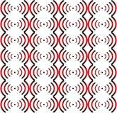 Безшовная картина красн-черн-белая. Стоковая Фотография RF