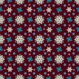 безшовная картина, красочная, цветки, калейдоскоп Стоковые Изображения RF