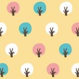Безшовная картина красочное tree-2 Стоковое Изображение RF