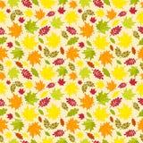Безшовная картина красочных листьев осени также вектор иллюстрации притяжки corel Стоковая Фотография RF