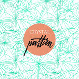 Безшовная картина кристаллов Стоковое фото RF