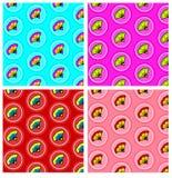 Безшовная картина круга цветка Стоковые Фотографии RF