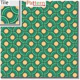 Безшовная картина круговых колец или диски которая перекрываются бесплатная иллюстрация