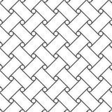 Безшовная картина кругов и линий предпосылка геометрическая Стоковые Изображения RF