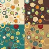 Безшовная картина кругов. Собрание год сбора винограда Стоковое Изображение
