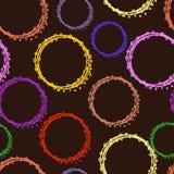Безшовная картина кругов Стоковые Фото