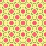Безшовная картина кругов Стоковое Фото