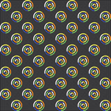 Безшовная картина кругов Стоковое фото RF