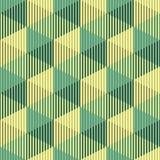 Безшовная картина куба 3d Абстрактная minimalistic предпосылка Vect Стоковые Фотографии RF
