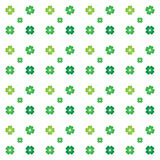 Безшовная картина - 4 клевера листьев Стоковое Изображение