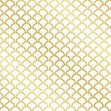 Безшовная картина листового золота Deco абстрактного искусства иллюстрация штока