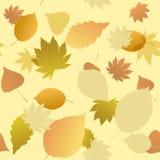 Безшовная картина листьев осени Стоковое Изображение RF