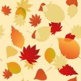 Безшовная картина листьев осени Стоковая Фотография RF