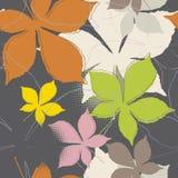 Безшовная картина листьев Стоковое Фото