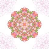 Безшовная картина мандалы, кругового орнамента Стоковая Фотография RF