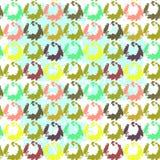 Безшовная картина маленькие различные цветки Стоковые Фотографии RF