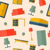 Безшовная картина мебели Стоковое Изображение RF
