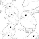 Безшовная картина младенец цыпленка также вектор иллюстрации притяжки corel Стоковая Фотография RF