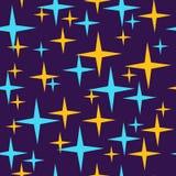 Безшовная картина младенца звезды для дизайна печати иллюстрация штока