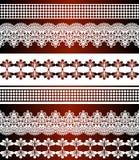 Безшовная картина нашивок Нашивка установила границ шнурка богемских безшовных Декоративный фон орнамента для ткани, ткани, созда иллюстрация штока