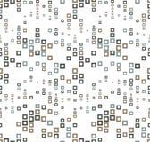 Безшовная картина на белой предпосылке Имеет форму волны Состоит из через геометрические элементы квадратной формы в цвете Стоковые Изображения RF
