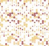 Безшовная картина на белой предпосылке Имеет форму волны Состоит из абстрактных геометрических элементов в цвете Стоковая Фотография