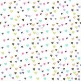 Безшовная картина на день валентинки s Сердца на белой изолированной предпосылке также вектор иллюстрации притяжки corel бесплатная иллюстрация