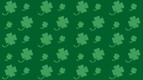 Безшовная картина на день ` s St. Patrick с shamrock Стоковое Изображение RF