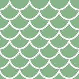 Безшовная картина на зеленой иллюстрации вектора предпосылки Стоковое фото RF