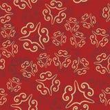 Безшовная картина на красном цвете декоративный сбор винограда элементов Вручите вычерченную предпосылку исламскую, арабский, инд Стоковая Фотография RF