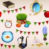Безшовная картина на праздник Nowruz Стоковые Фотографии RF