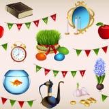 Безшовная картина на праздник Nowruz Стоковое Изображение
