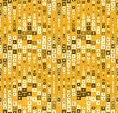 Безшовная картина на предпосылке цвета Имеет форму волны Состоит из через геометрические элементы в цвете Стоковые Изображения RF