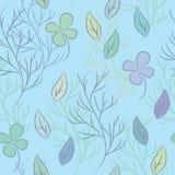 Безшовная картина на теме листьев Стоковые Изображения