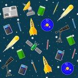 Безшовная картина на теме школы астрономии Стоковые Изображения